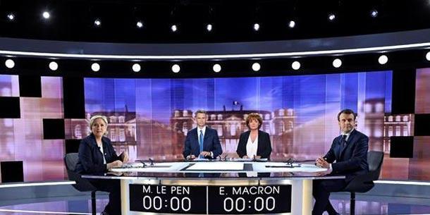 Actualidad Actualidad Bronco debate entre Macron y Le Pen a tres días de segunda vuelta en Francia