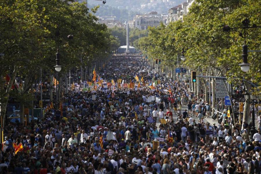 Actualidad Actualidad Manifestación en Barcelona contra los atentados, últimas noticias en directo