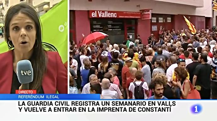 Actualidad Actualidad Impresentable: independentistas agreden a un cámara de TVE en pleno Telediario