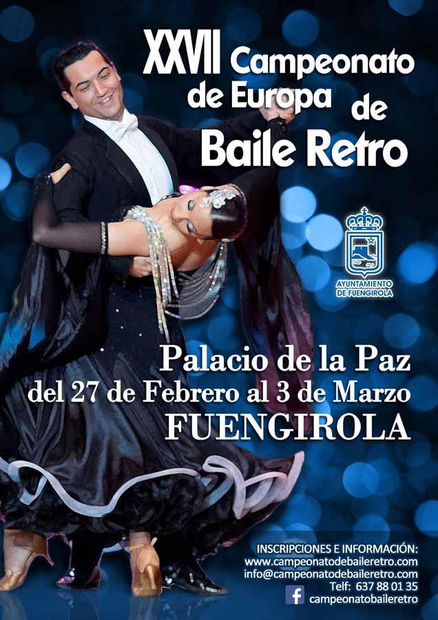 Baile Baile Sale a la luz el cartel y ya se pueden realizar las inscripciones online del XXVII Campeonato de Europa de Baile Retro