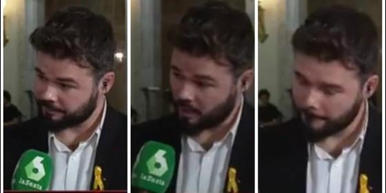 Actualidad Actualidad Twitter masacra a Rufián recordándole que dijo que ir a las elecciones del 21-D 'era traicionar al pueblo de Cataluña'