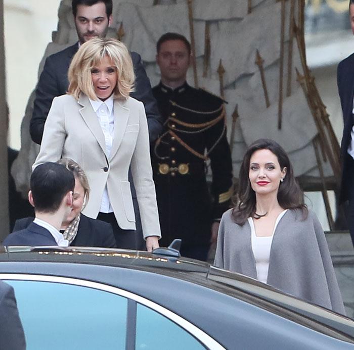 Moda Moda Angelina Jolie y Brigitte Macron: Los reveladores detalles de estilo en su encuentro