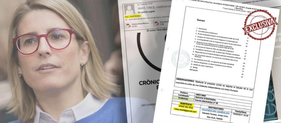 Actualidad Actualidad La Guardia Civil revisó correos de Elsa Artadi con informes económicos enviados al cerebro del 'procés'