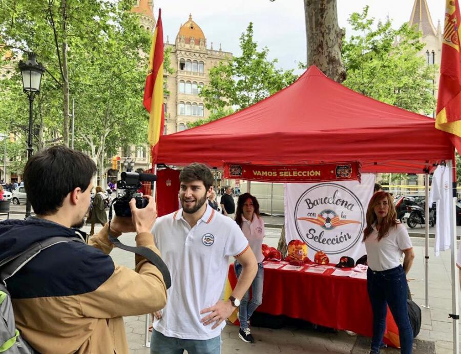"""Deportes Deportes """"Barcelona con la selección"""" trabaja para poder ver a España en el Mundial de Rusia"""