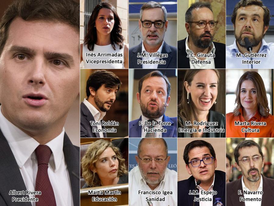 Actualidad Actualidad Cs dará proyección a su 'shadow cabinet' para consolidarse como alternativa de Gobierno