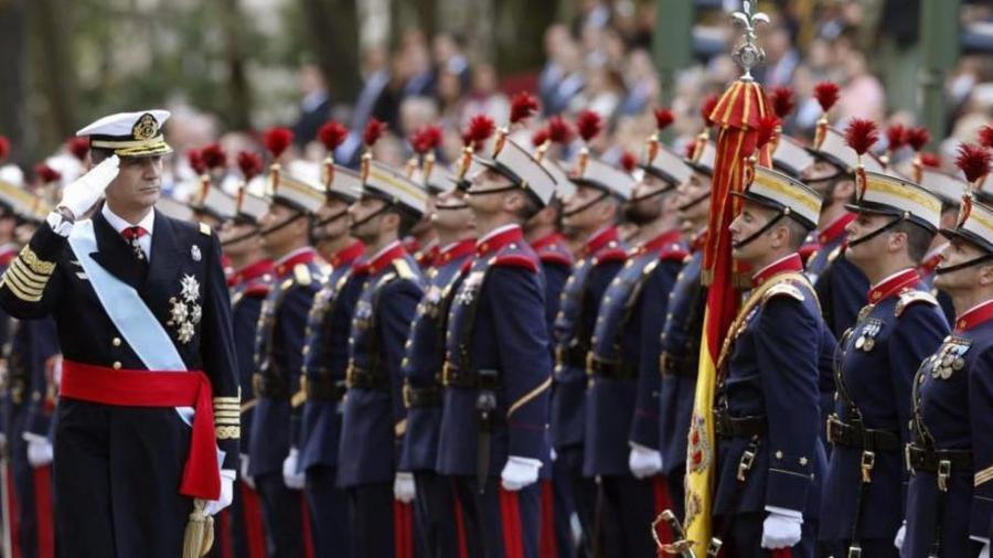 Felipe VI y su bandera bilaketarekin bat datozen irudiak