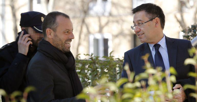 Deportes Deportes Josep María Bartomeu visita a Sandro Rosell en la cárcel de Soto del Real