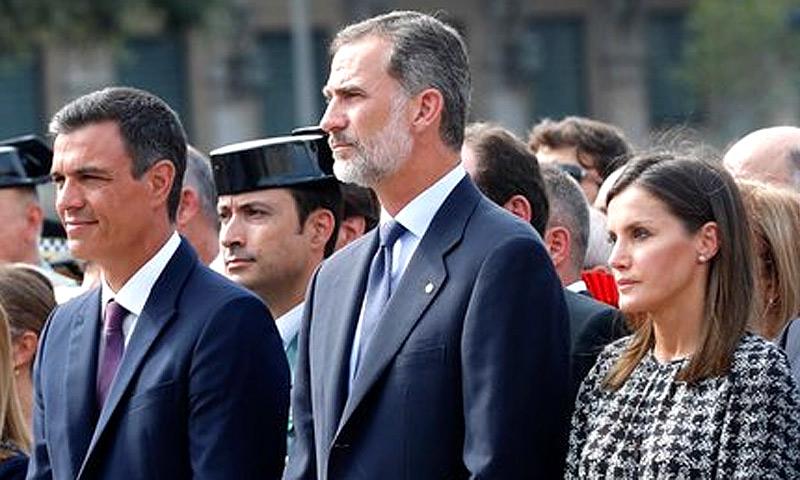 Actualidad Actualidad Los Reyes Felipe y Letizia asisten al acto en recuerdo de las víctimas por los atentados de Barcelona